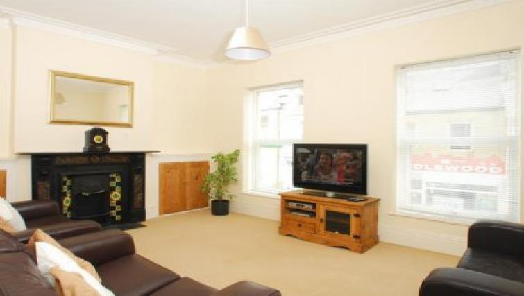 Modern living area in Molesworth Apartment