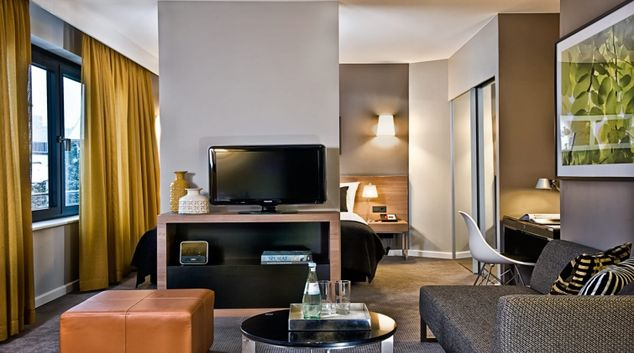 Charming living area at Adina Apartment Hotel Hamburg Michel