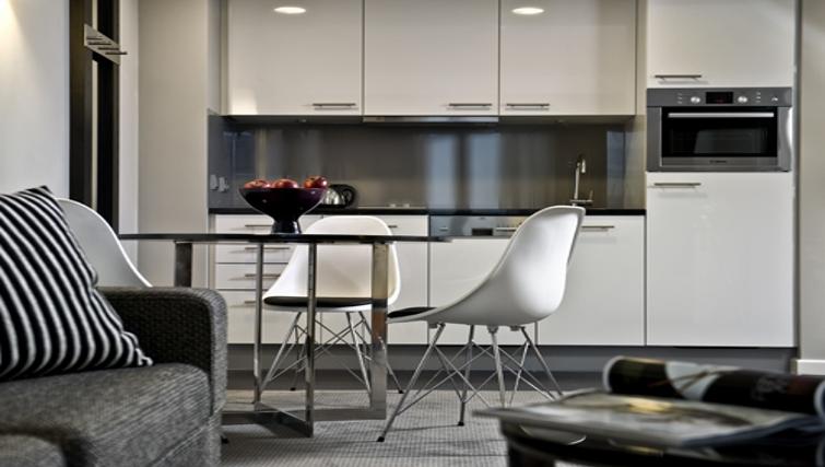 Compact kitchen at Adina Apartment Hotel Hamburg Michel
