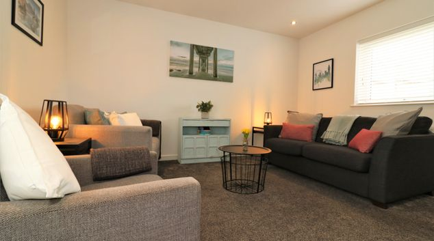 Living room at The Railway Cottage, Summerston, Glasgow