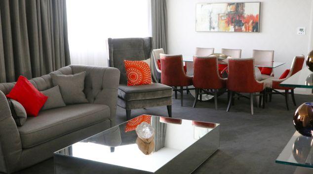 Living area at Park Regis Birmingham Apartments, Westside, Birmingham