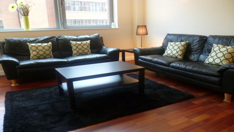 Living area at Centralofts Apartments