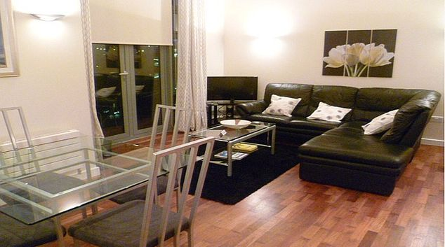 Spacious living room in Centralofts Apartments