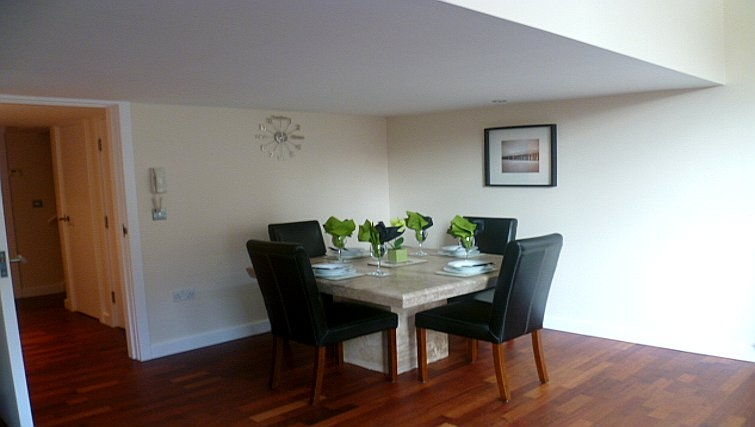 Simple dining area in Centralofts Apartments