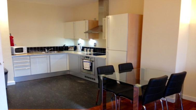Kitchen facilities at Centralofts Apartments