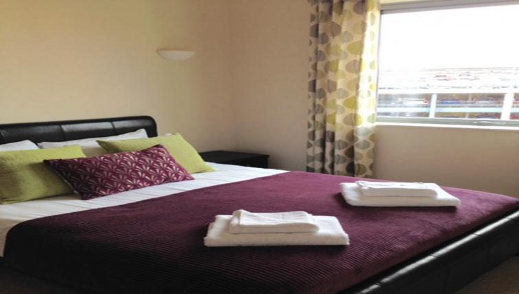Master bedroom at Centralofts Apartments