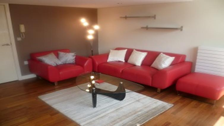 Living space at Centralofts Apartments