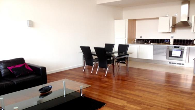 Dining area/kitchen at Centralofts Apartments