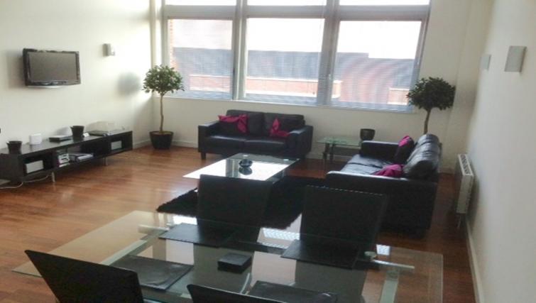 Living room at Centralofts Apartments