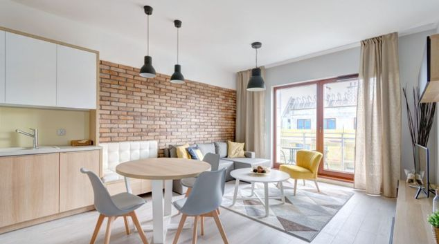 Dining area at Jaglana Apartments, Centre, Gdansk