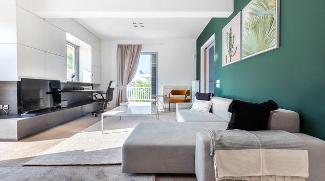 Living area at Kiprou VI Apartment, Glifada, Athens