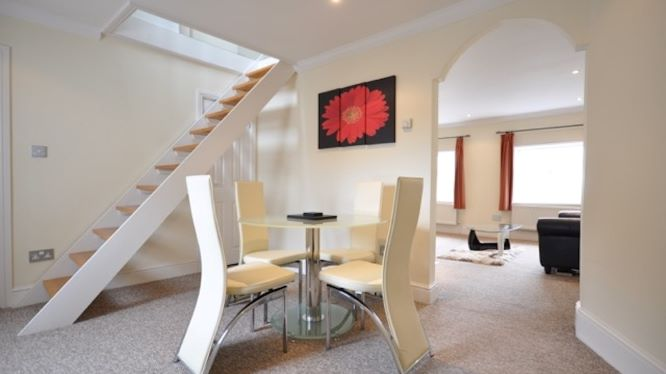 Dining area at Guards View Apartments