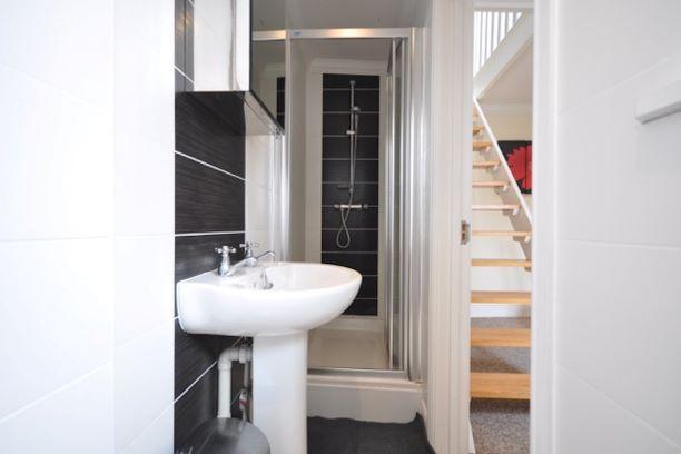Bathroom at Guards View Apartments