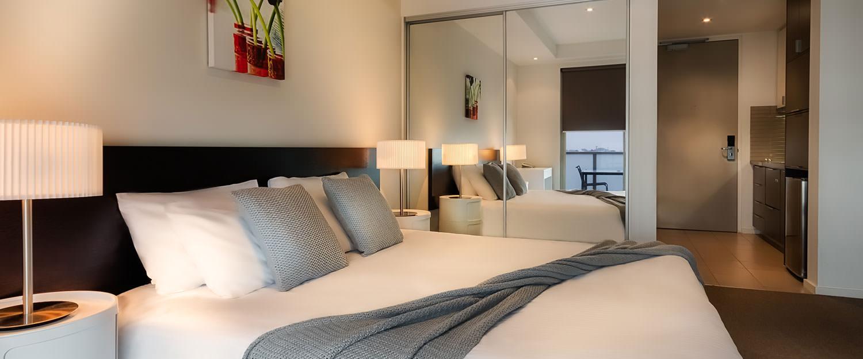 Cosy bedroom at Caroline Serviced Apartments