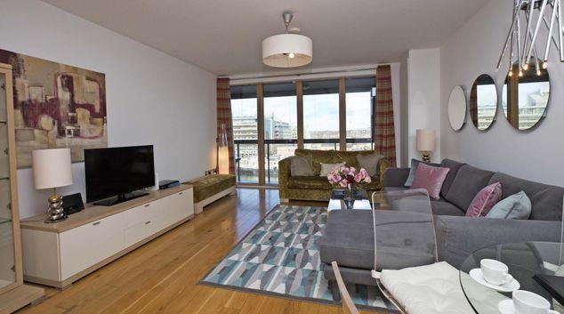 Living room at Hanover Apartment, Stella Gardens, Dublin