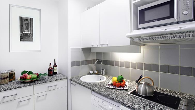 Kitchen in Citadines Lille Centre Apartments