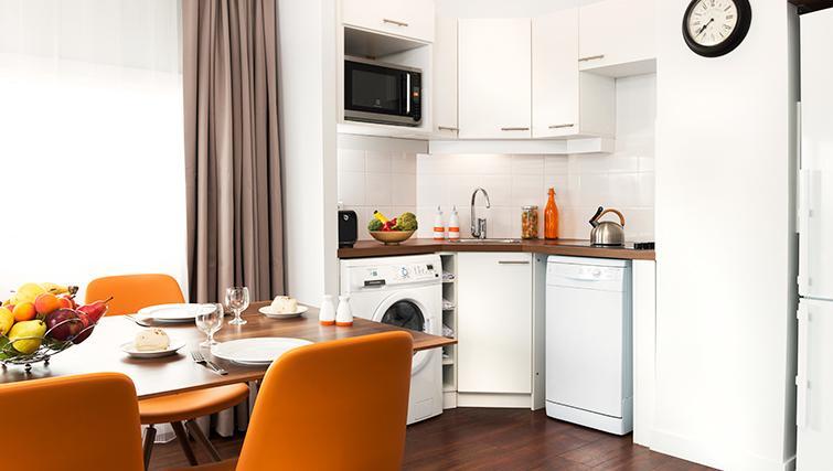 Modern kitchen in Citadines Lille Centre Apartments