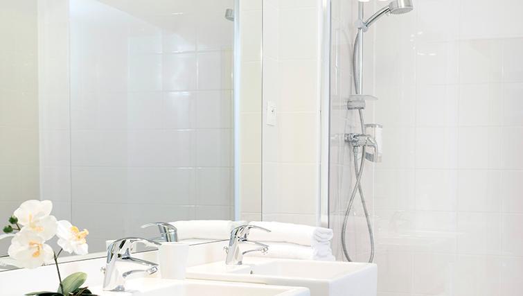 Pristine bathroom at Citadines Lille Centre Apartments