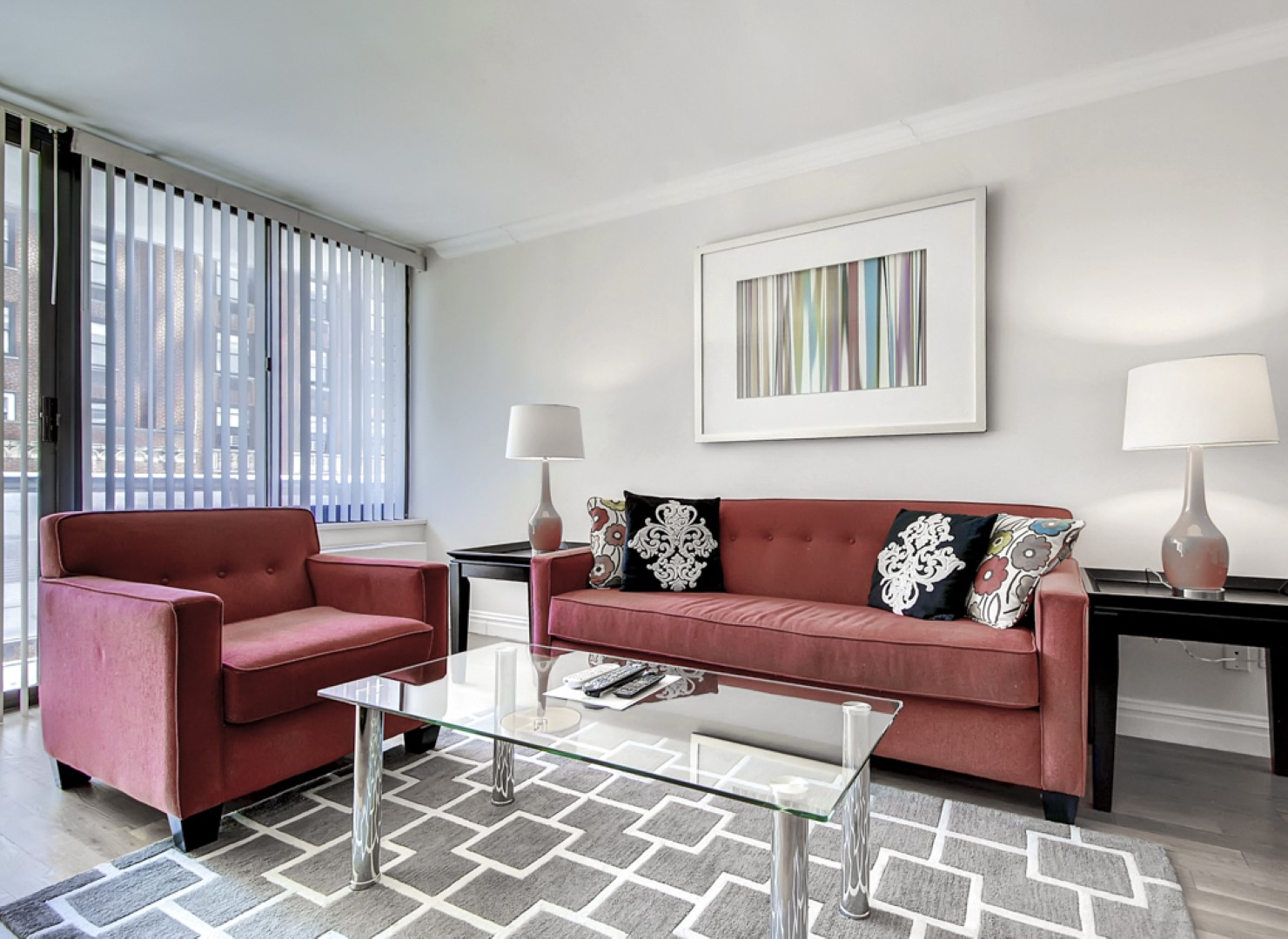 Bright living space at Ritz Plaza Apartments, Times Square, New York