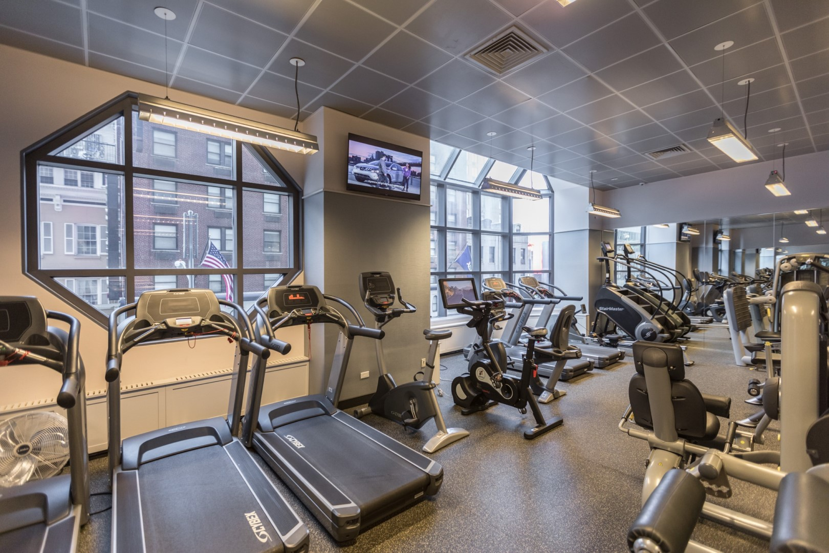 Gym at Ritz Plaza Apartments, Times Square, New York