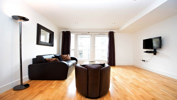 Spacious living area in Staycity Edinburgh West End