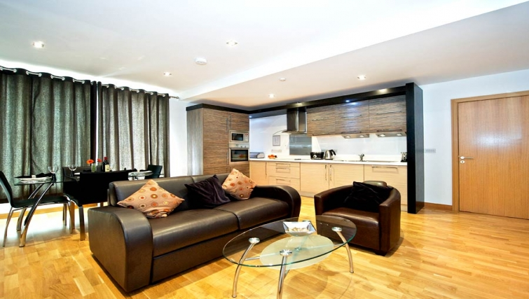 Incredible living area in Staycity Edinburgh West End