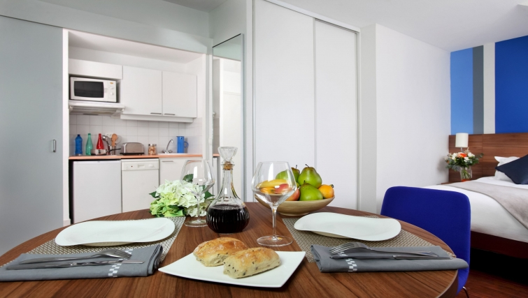 Exceptional kitchen in Citadines Grenoble Apartments
