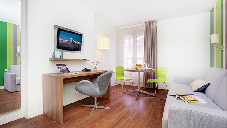 Work area at Citadines Grenoble Apartments