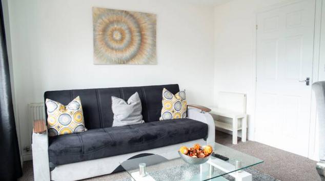 Living area at Daimler House by Patternbricks, Foleshil, Coventry