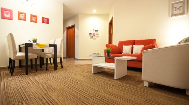 Living area at Alocassia Apartments, Novena, Singapore