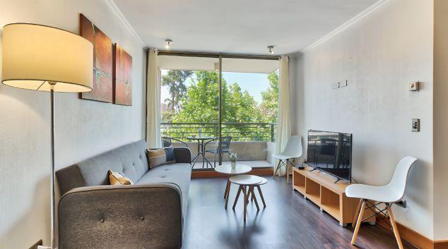 Living area at Vespucio Art Apartment, Las Condes, Santiago