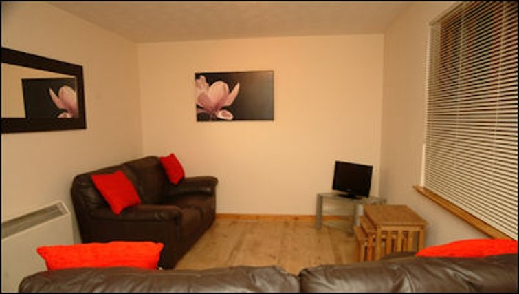Fresh living area in The Wyvis Apartments