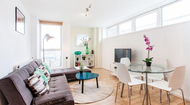 Living room at Macklin Street Apartment, Holborn, London