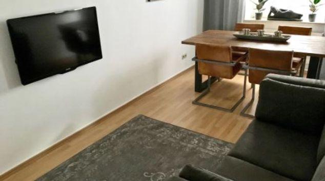 Living room at Rustic Apartment, Unterbilk, Dusseldorf