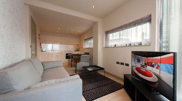 Living area at La Reserve Aparthotel Manchester, Centre, Manchester