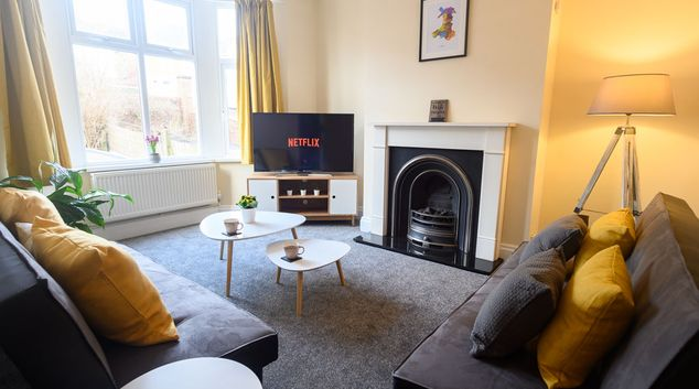 Living area at Beechwood House, Centre, Newport