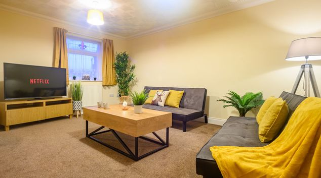 Living area at Merriott House, Maindee, Newport