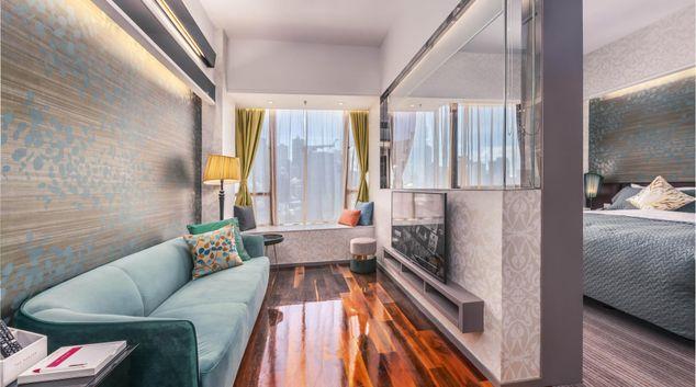 Sofa at The Mercer, Sheung Wan, Hong Kong