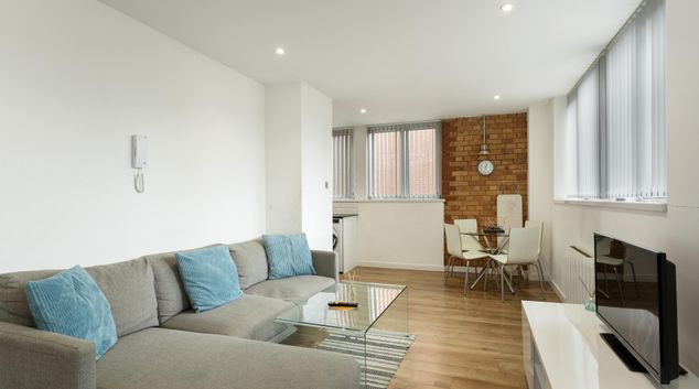 Living area at SO2 Rowley, Centre, Leicester