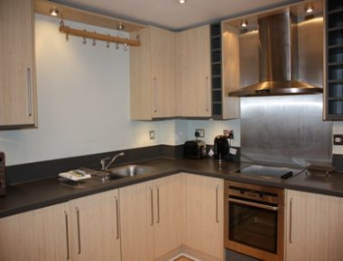 Spacious kitchen in Town Quay Apartments
