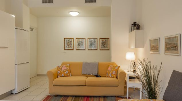 Living room at Bright Plume Apartment, San Vittore, Milan