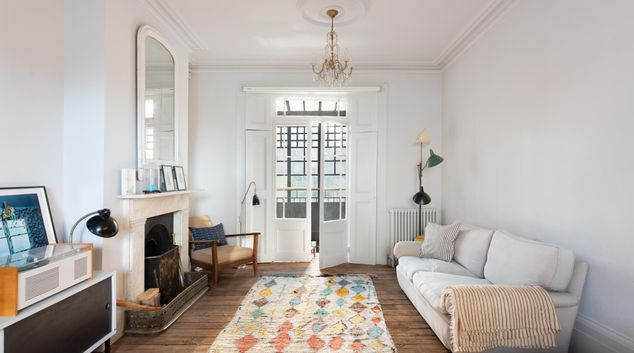 Living area at Forest Road, Hackney, London