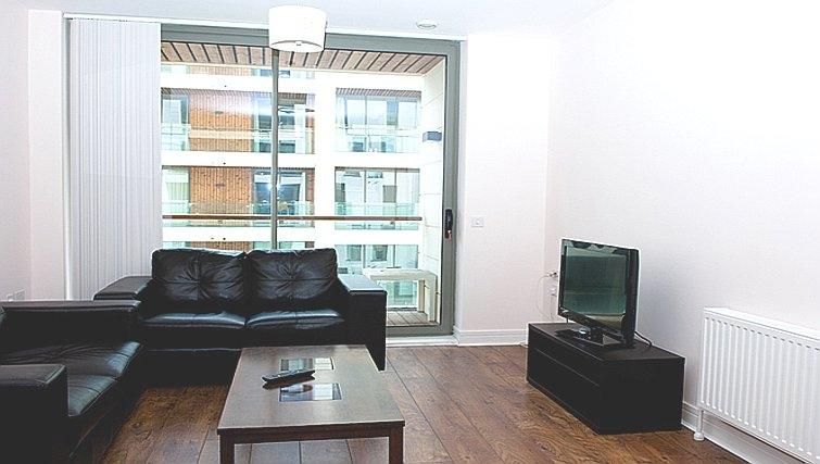 Modest living area in Titanic Arc Apartment