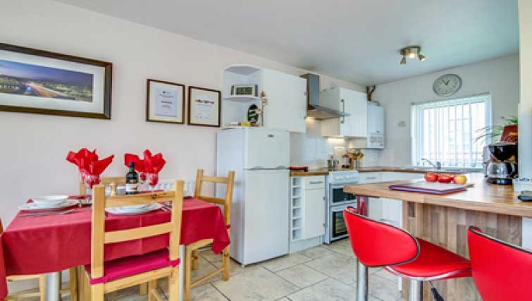 Kitchen and dining area in Belfast City Centre Apartment