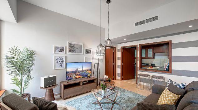 Living area at Sadaf 6 Apartment, Dubai Marina, Dubai