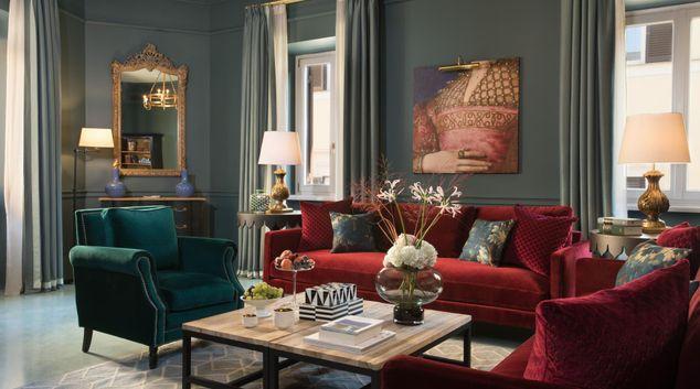 Living area at Rocco Forte House, Municipio I, Rome