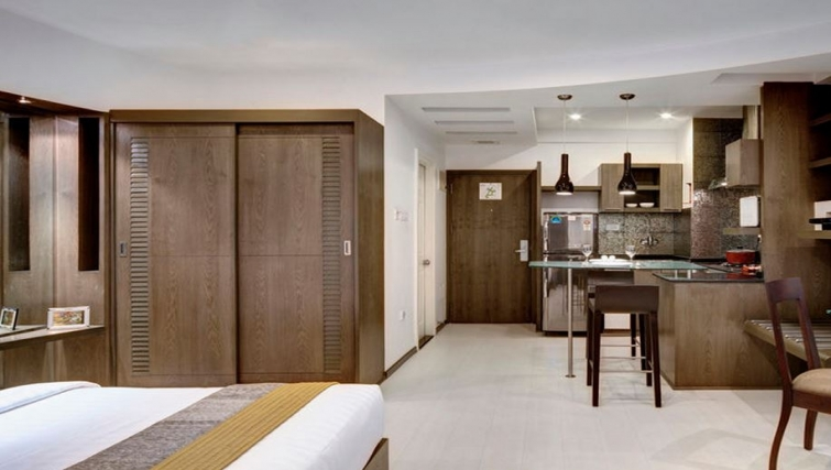 Spacious kitchen in Melange Astris