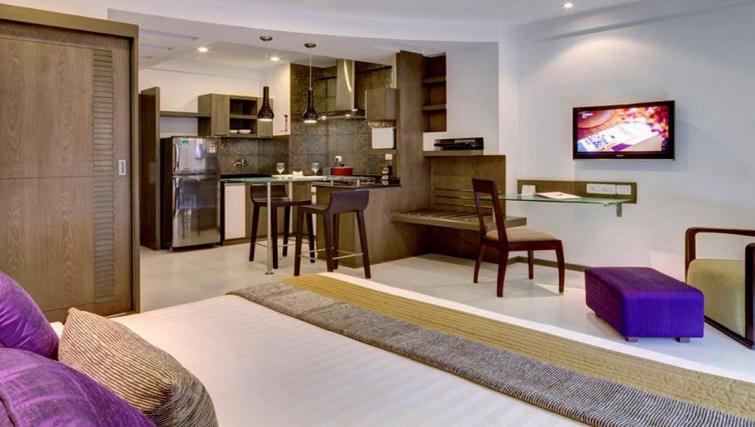 Modern living area in Melange Astris