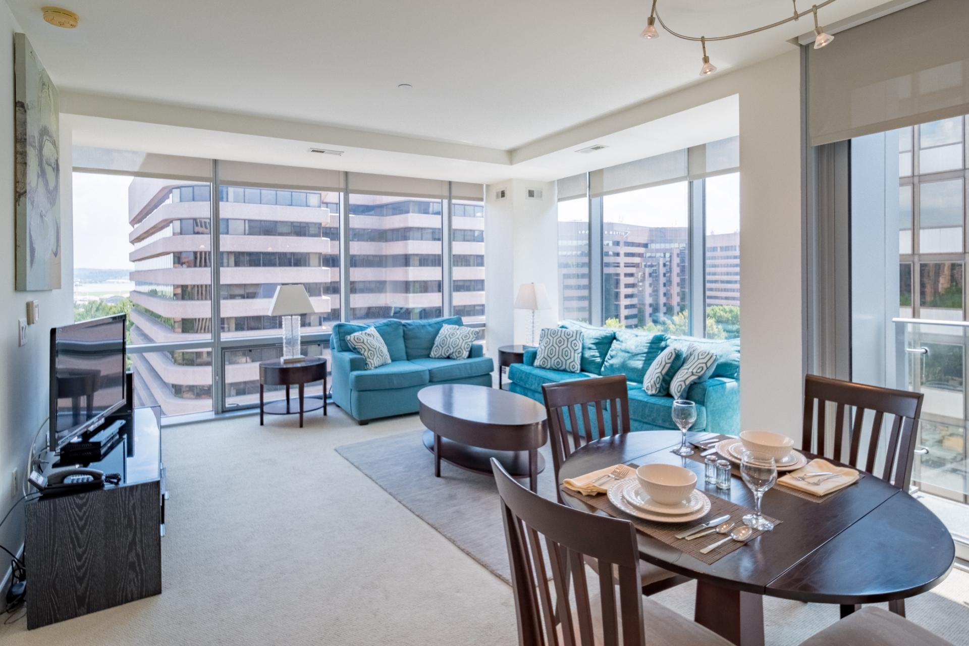 Living room at 220 Twentieth Street Apartments, Crystal City, Arlington