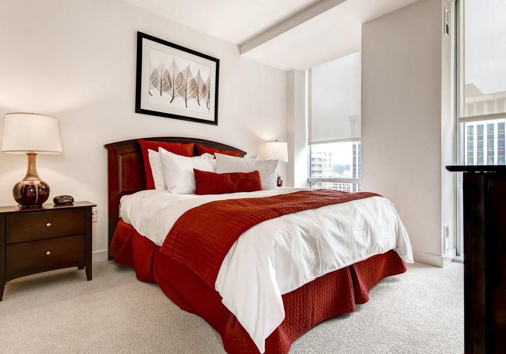 Bed at 220 Twentieth Street Apartments, Crystal City, Arlington